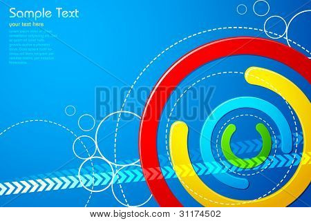 illustration of abstract colorful shape on vector background