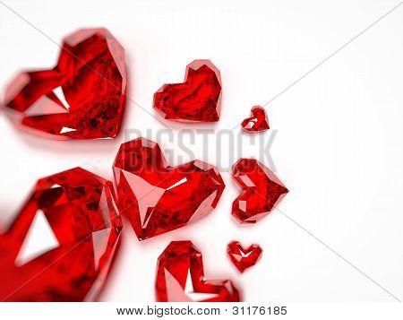 Ruby hearts