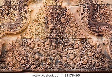 Hindu Sky God Indra carving