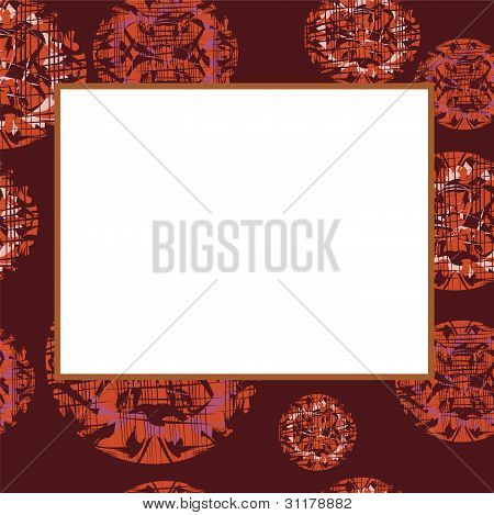 Darkenning Vector Frame With Abstract Ovals