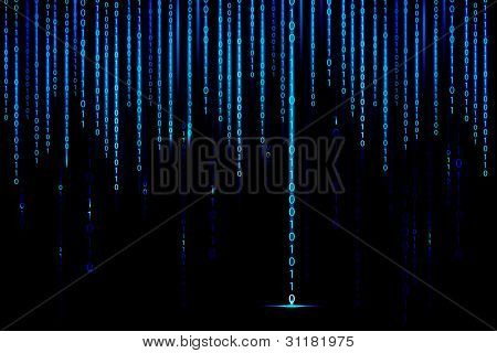 Abbildung der Matrix Stil binary Background mit Fallzahlen
