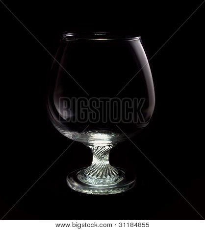 Brandy Glass on black background