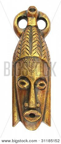 Golden ritual mask
