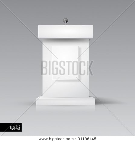 Vector rostrum/podium with microphone
