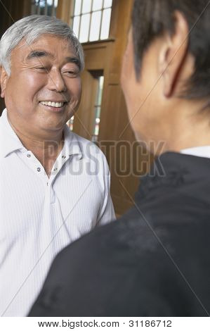 Senior Asian man smiling