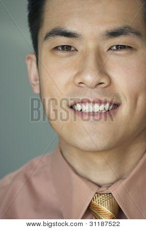 Close up of young man smiling at camera