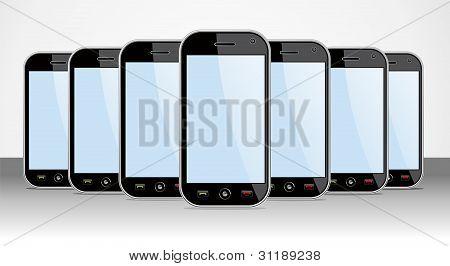 Satz von generischen Smartphones Gerät nützlich für app-Vorlagen