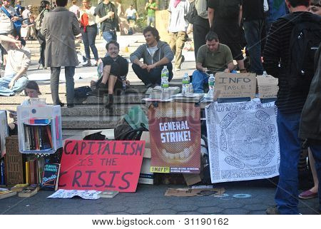 occupy wall street, info table
