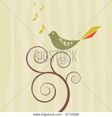 Retro Style Songbird