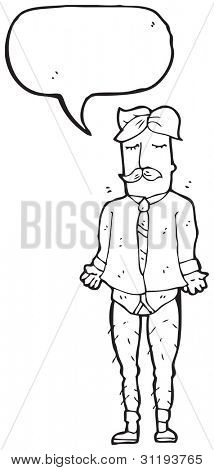 sensible man missing his trousers cartoon
