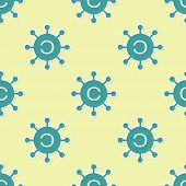 Green Copywriting Network Icon Isolated Seamless Pattern On Yellow Background. Content Networking Sy poster