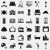 Indoor Icons Set. Simple Style Of 36 Indoor Icons For Web For Any Design poster