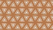 Hipster Pattern With Polygonal Elements. Triangles Style. Vector Seamless Illustration. Background F poster