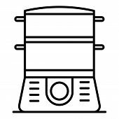 Cooker Icon. Outline Cooker Icon For Web Design Isolated On White Background poster