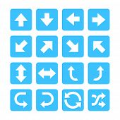 Arrow Set Icons Isolated, Set Of Road Traffic Vector Arrows. Arrow Icon. Arrow Vector Icon. Arrow. A poster