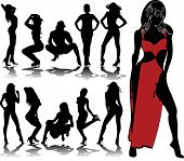 pic of stripper shoes  - woman silhouettes 8 - JPG