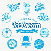 Retro Vector Ice Cream VIntage And Label