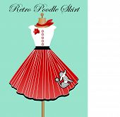 stock photo of poodle skirt  - Retro poodle skirt - JPG