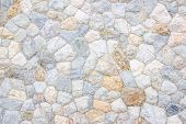 Brick Stone Wall Stack Of Medieval Natural Stone Texture Background Or Rock Strata Boundary The Rock poster