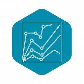 Financial Statistics Icon. Outline Illustration Of Financial Statistics Icon For Web Design poster
