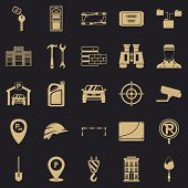 Spanner Icons Set. Simple Set Of 25 Spanner Icons For Web For Any Design poster