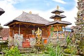 stock photo of saraswati  - Pura Saraswati temple at the lovey village of Ubud - JPG