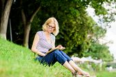 Read Fairytale. Woman In Park Reading Book. Reading Is My Hobby. Summer Study. Interesting Story. Re poster