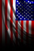 image of waving american flag  - American flag waving in the wind with some folds - JPG