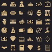 Deposit Icons Set. Simple Style Of 36 Deposit Icons For Web For Any Design poster
