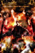 Постер, плакат: Боги являются ди джеев партия в храме бьется