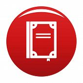 Book Publication Icon. Simple Illustration Of Book Publication Icon For Any Design Red poster