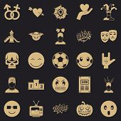 Soulful Icons Set. Simple Set Of 25 Soulful Icons For Web For Any Design poster