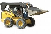 picture of skid  - Skid loader or bobcat on a white background - JPG