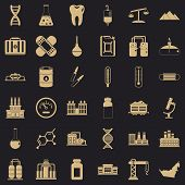 Chemical Molecule Icons Set. Simple Style Of 36 Chemical Molecule Icons For Web For Any Design poster