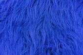 Texture Of Blue Artificial Fur. Fur Background For Design And Decoration. poster