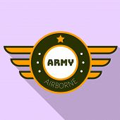 Army Airborn Logo. Flat Illustration Of Army Airborn Logo For Web Design poster
