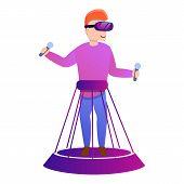 Futuristic Game Goggles Icon. Cartoon Of Futuristic Game Goggles Icon For Web Design Isolated On Whi poster