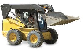picture of skid-steer  - Skid loader or bobcat on a white background - JPG