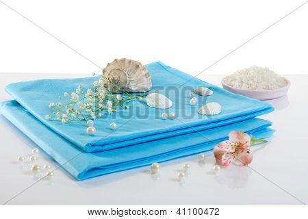 Spa Accessories: Sheet And Sea Salt