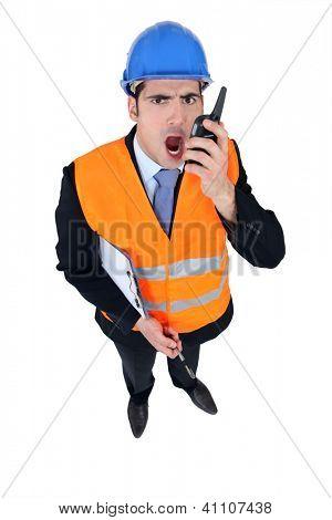 Angry foreman