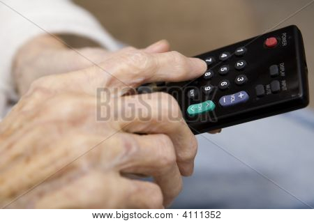 Senior And The Remote