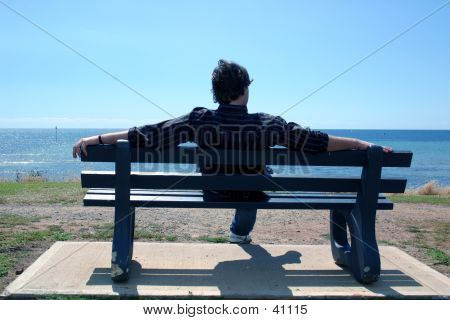 Man On Bench