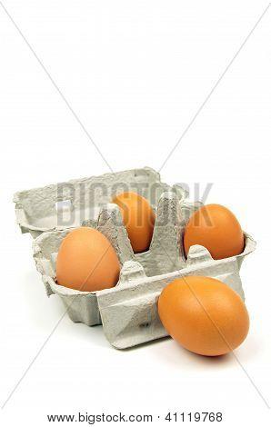 eggs and egg box