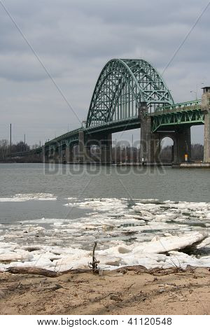 Bridge Over Icy Water