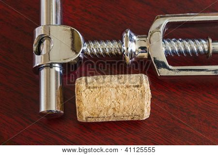 Cork With Corkscrew
