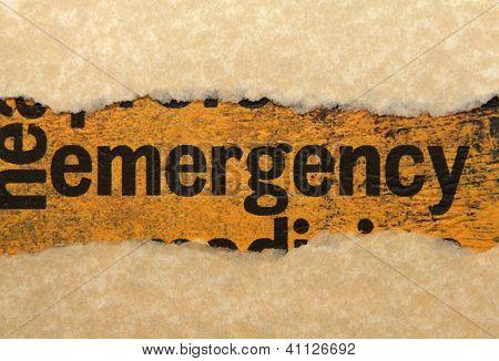 Emergency Torn Paper