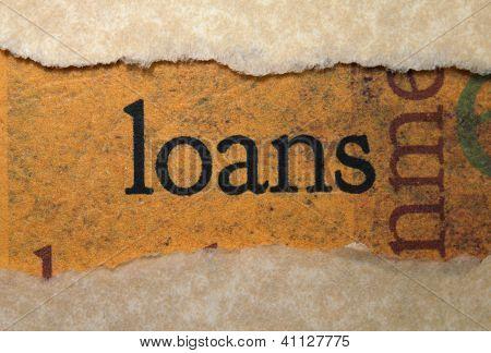 Concepto de préstamos