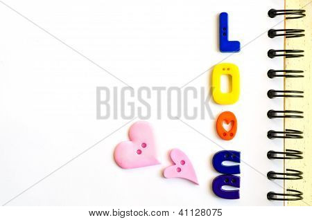 Love Made From  Plastic Buttons