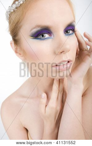 portrait of woman with creative make up