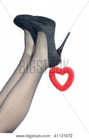 Sexy Legs With Knitted Heart